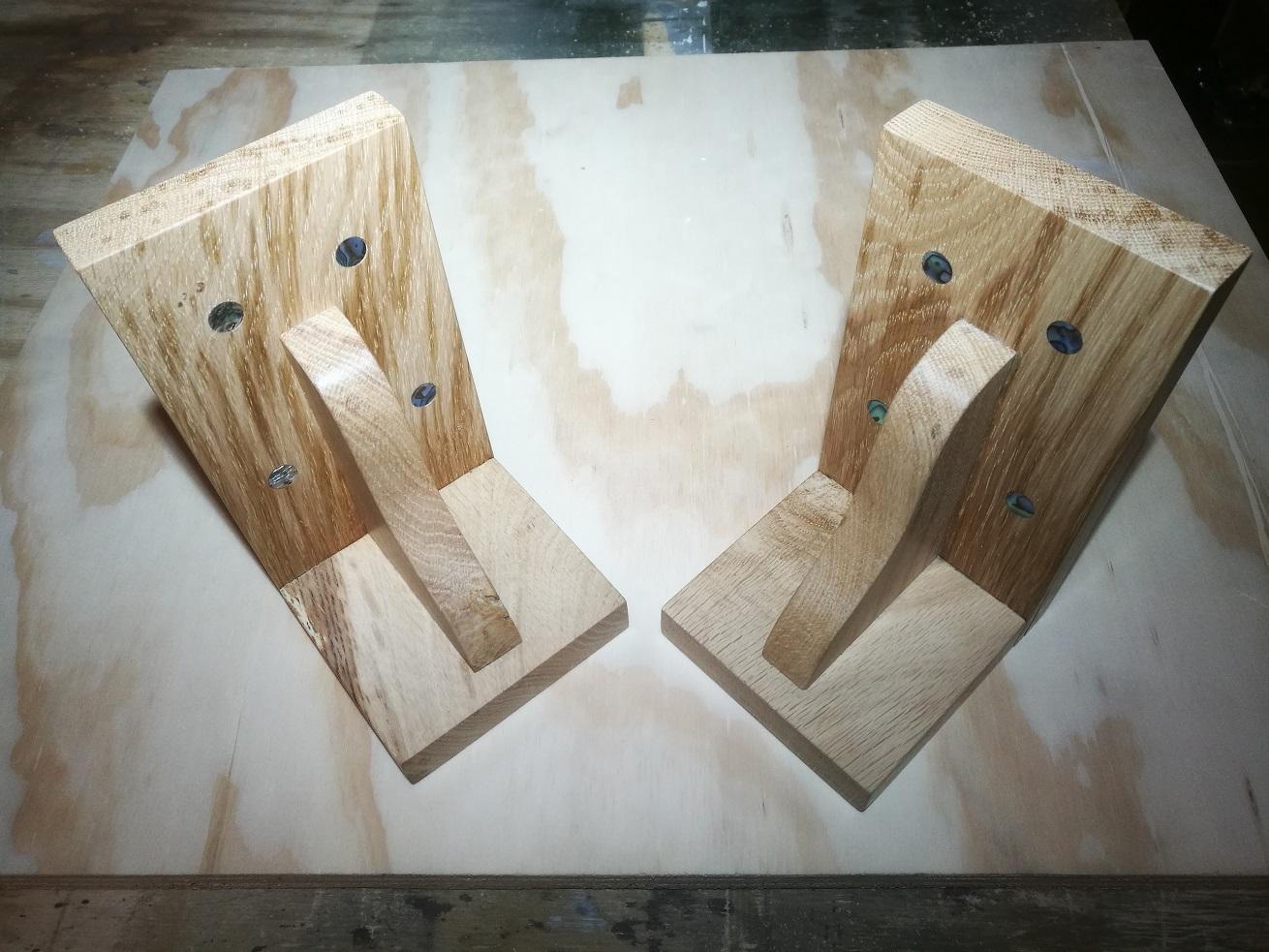 Oak Bookends